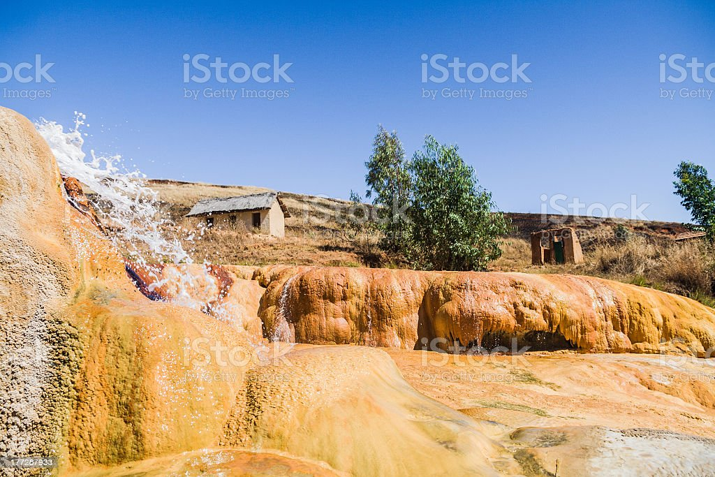 The geysers of Ampefy stock photo