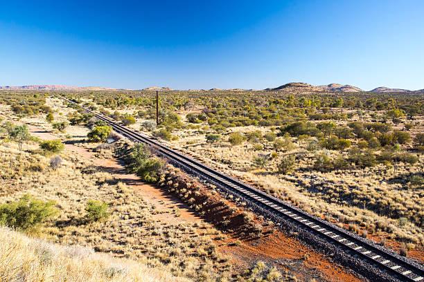 The Ghan Railway stock photo