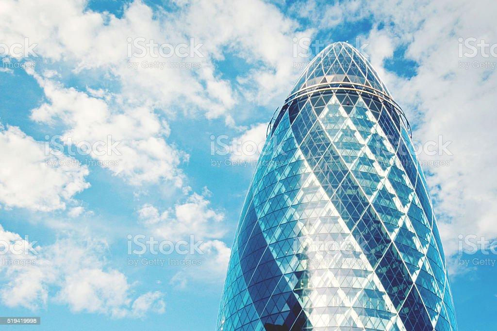 The Gherkin Building, London stock photo