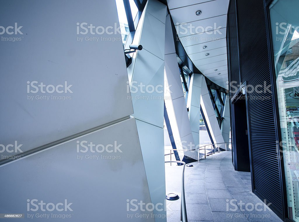 The Gherkins -contemporary building part in London stock photo