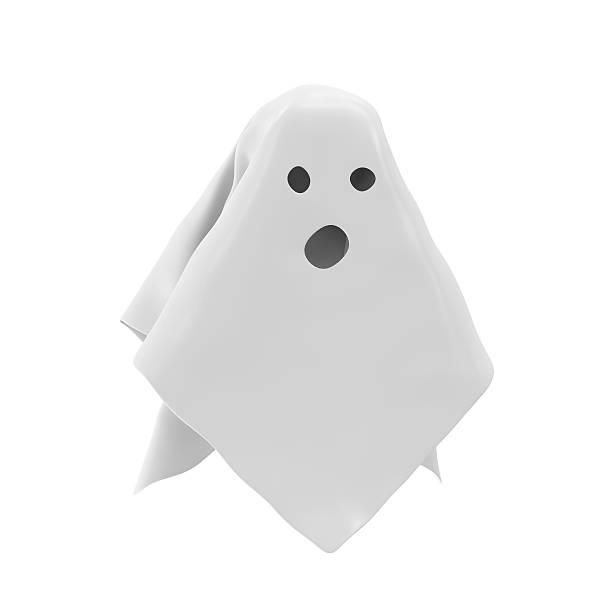 die ghost, isoliert auf weißem hintergrund - cartoon kostüme stock-fotos und bilder
