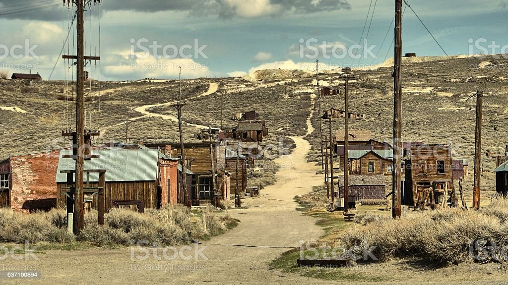 The ghost town of Bodie - California stock photo