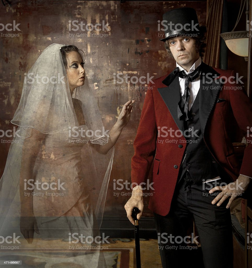 The Ghostly Bride stock photo