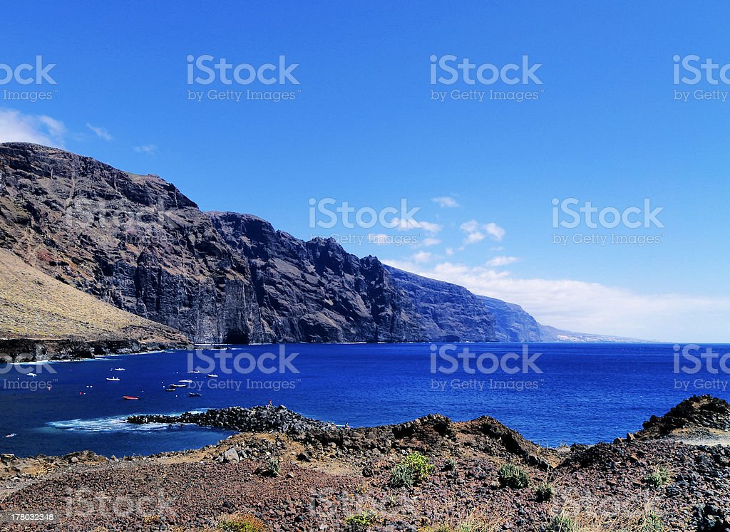 The Giants Cliffs on Tenerife royalty-free stock photo