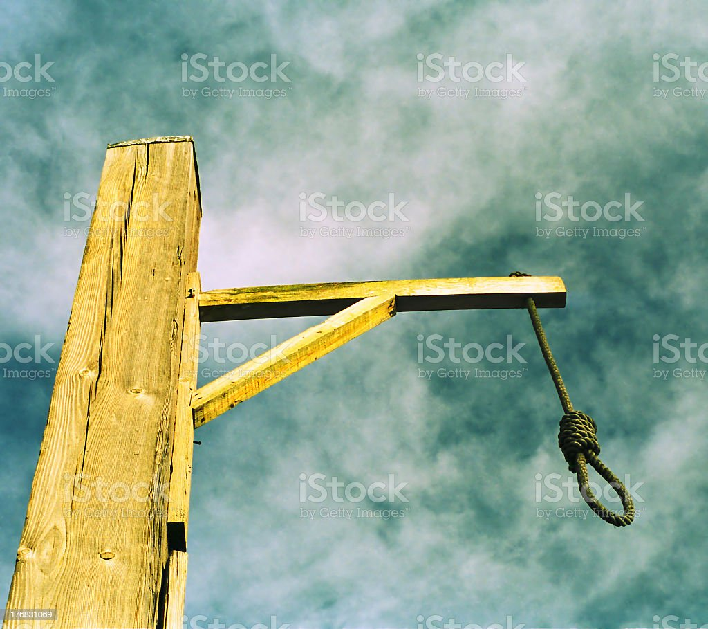 The gibbet stock photo