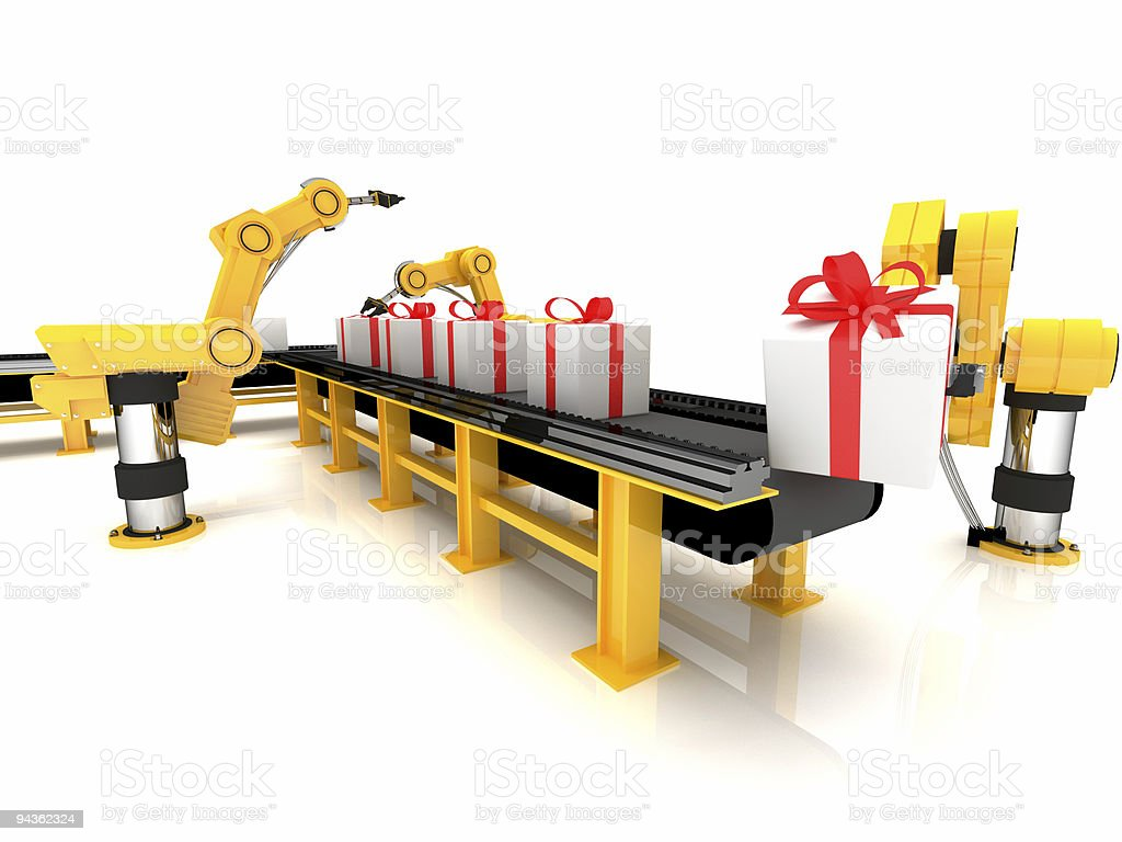 The gift conveyor royalty-free stock photo
