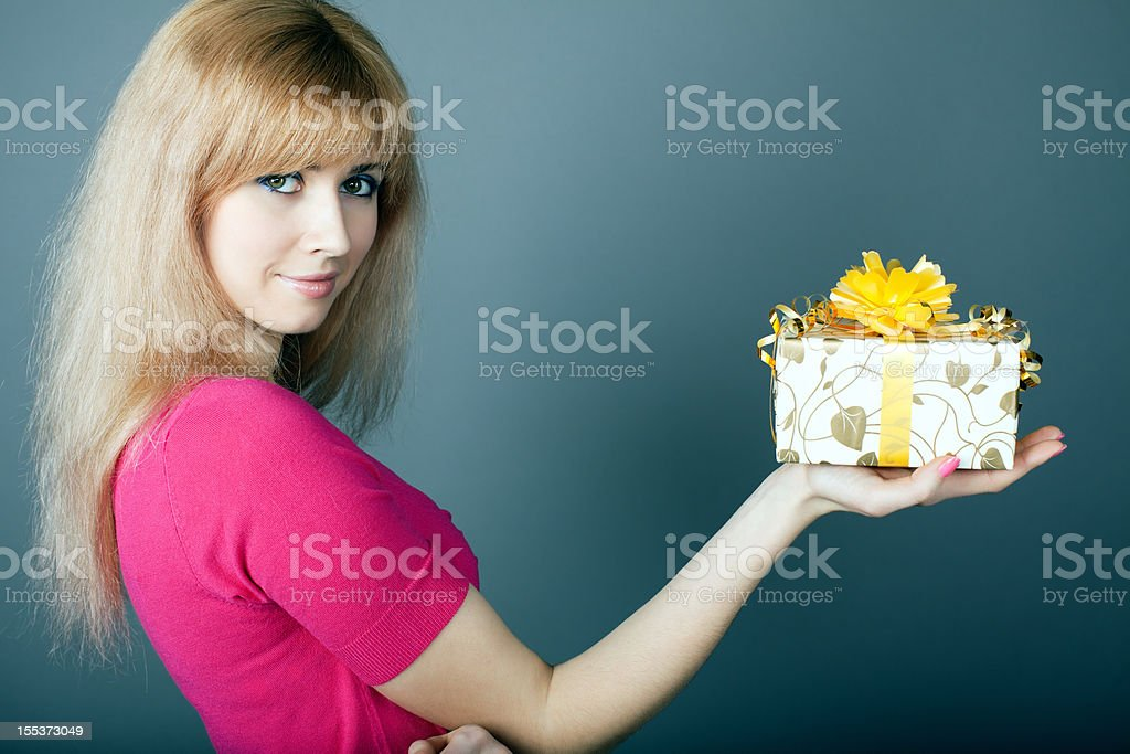 The gift royalty-free stock photo