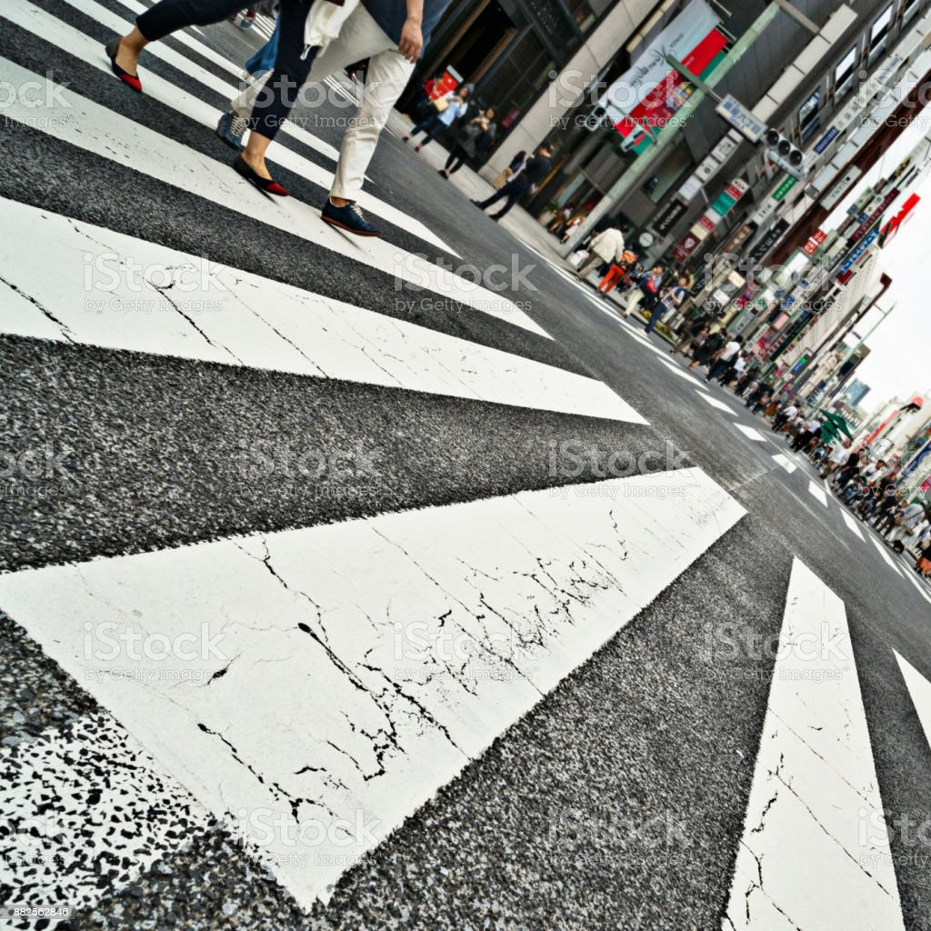 The Ginza District of Tokyo, Japan stock photo