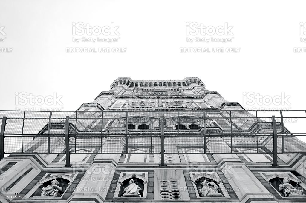 The Giotto's Campanile in Florence stock photo