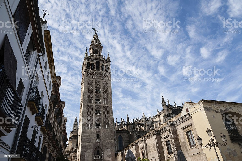 The Giralda in Seville royalty-free stock photo