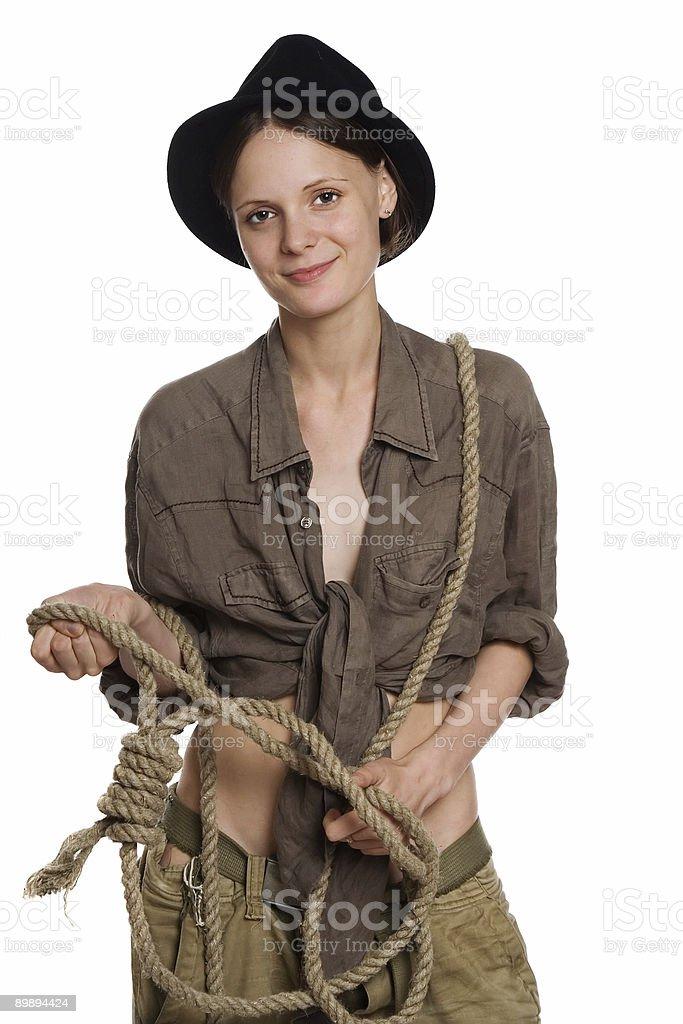 Das Mädchen cowboy Lizenzfreies stock-foto