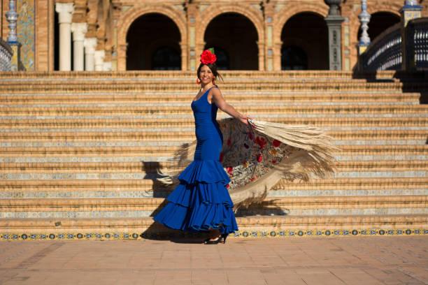 The girl dancing flamenco