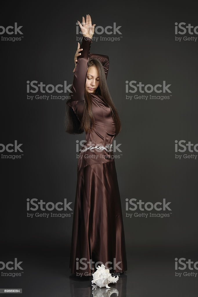 The girl in dance royalty-free stock photo