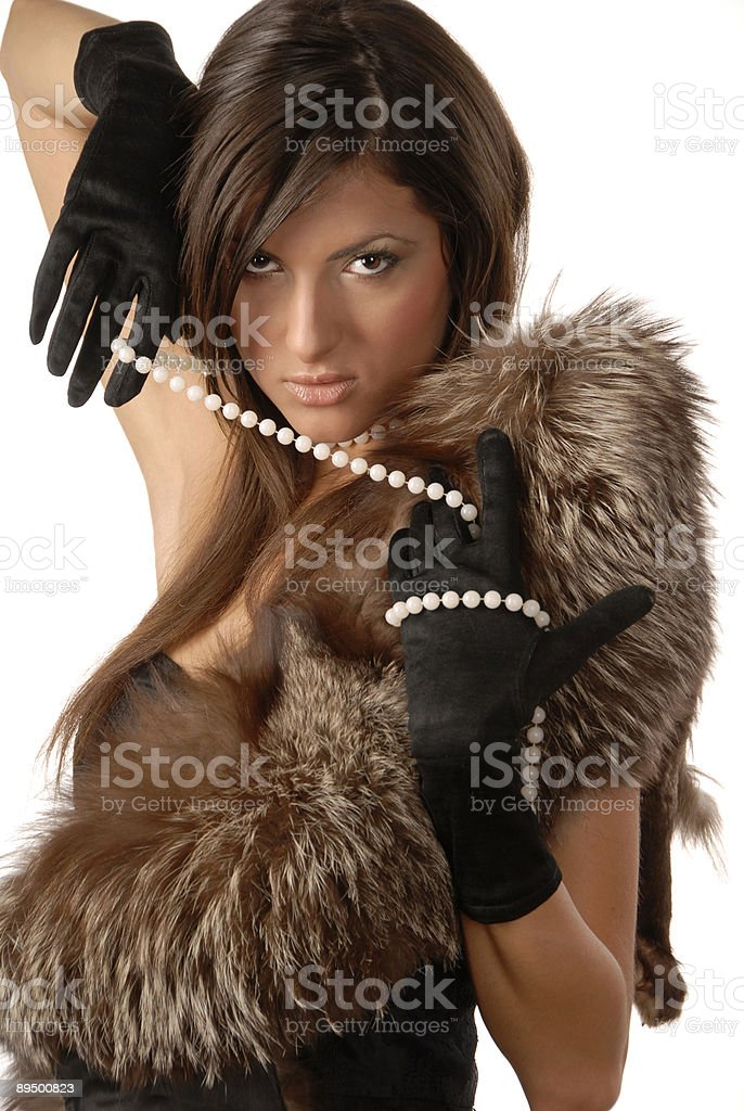 La ragazza in guantoni foto stock royalty-free