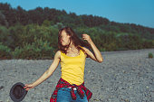 istock the girl is happy with happiness 1144935014