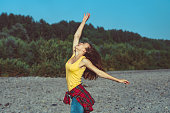 istock the girl is happy with happiness 1144935024