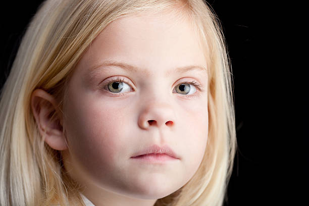The Girl is Sad stock photo