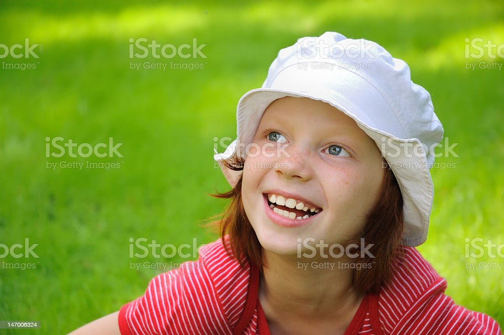 The girl laughs royalty-free stock photo