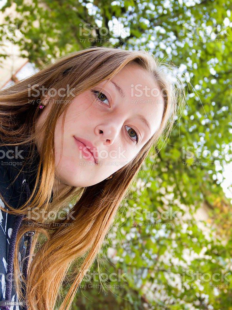 The girl stock photo