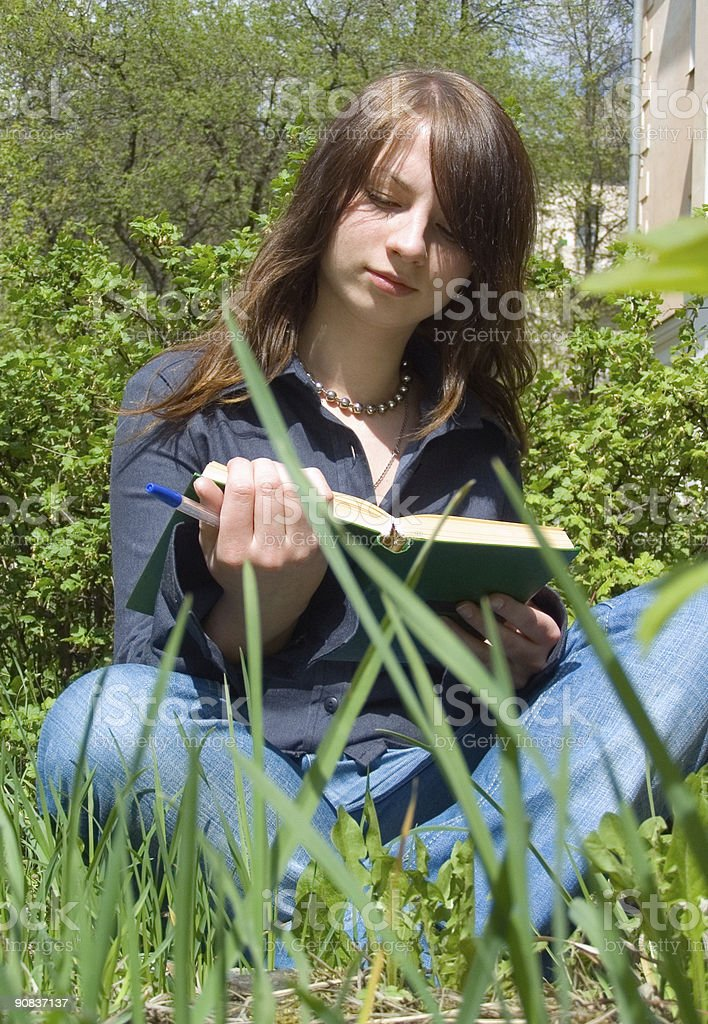 The girl with book royalty-free stock photo