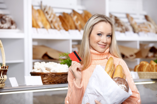 The Girl With Purchase Stock Photo - Download Image Now