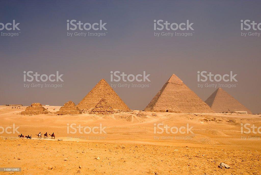 The Giza Pyramids, Egypt royalty-free stock photo