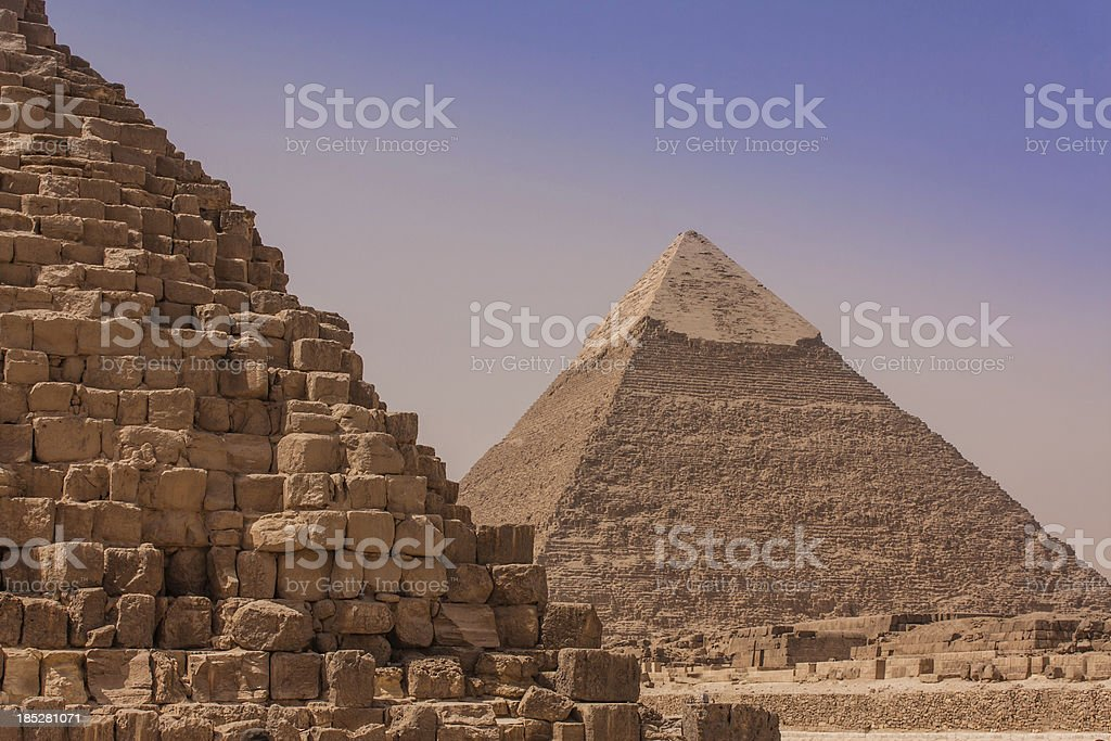 The Giza Pyramids royalty-free stock photo