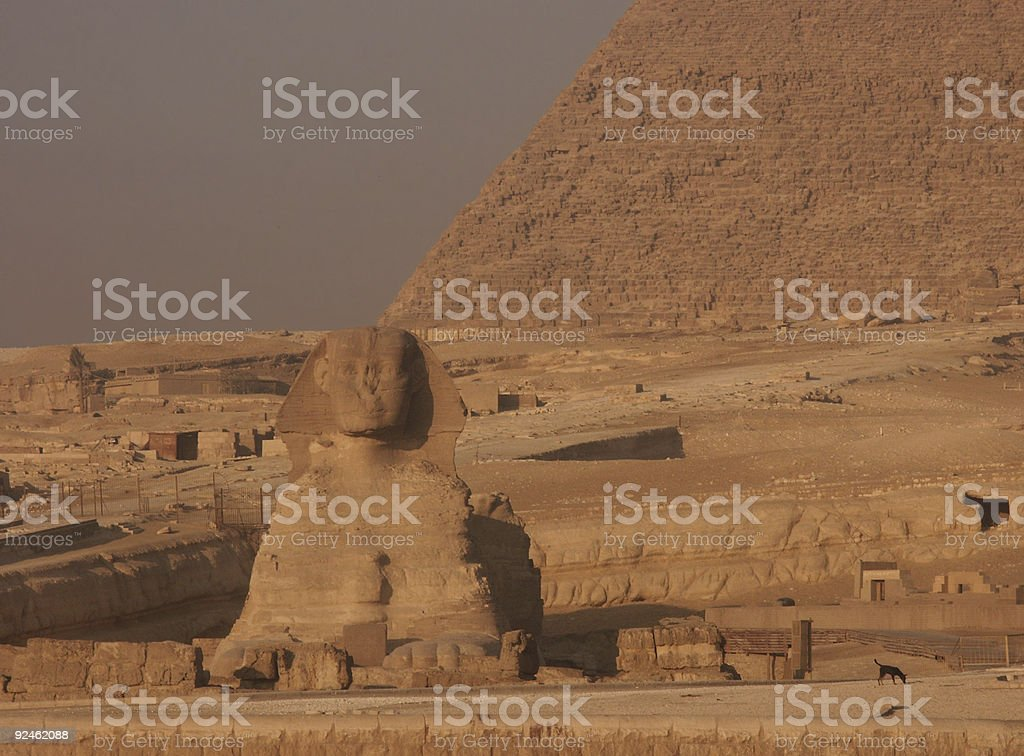 The Gizeh Sphinx royalty-free stock photo