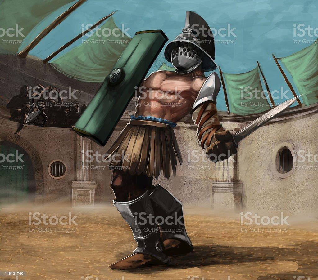 the gladiator royalty-free stock photo