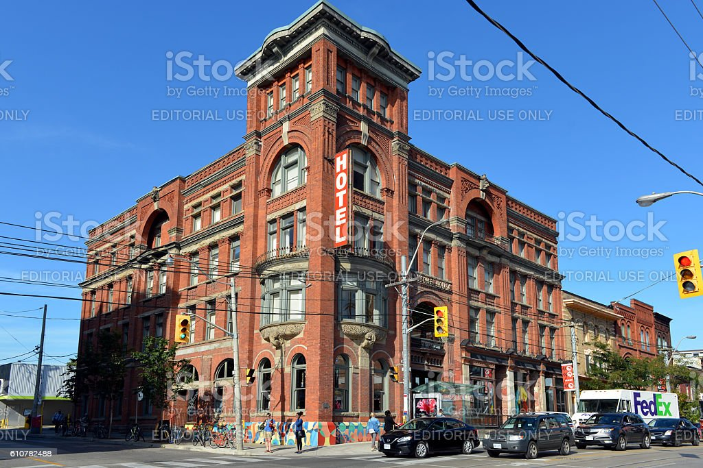 The Gladstone Hotel stock photo