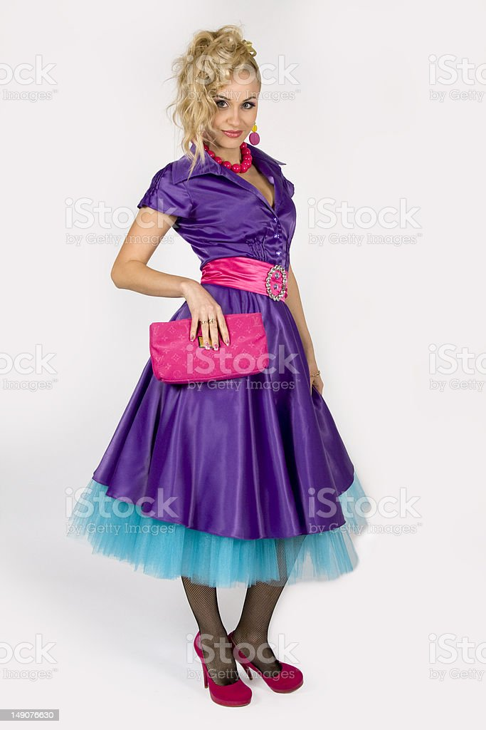 The glamour young lady stock photo