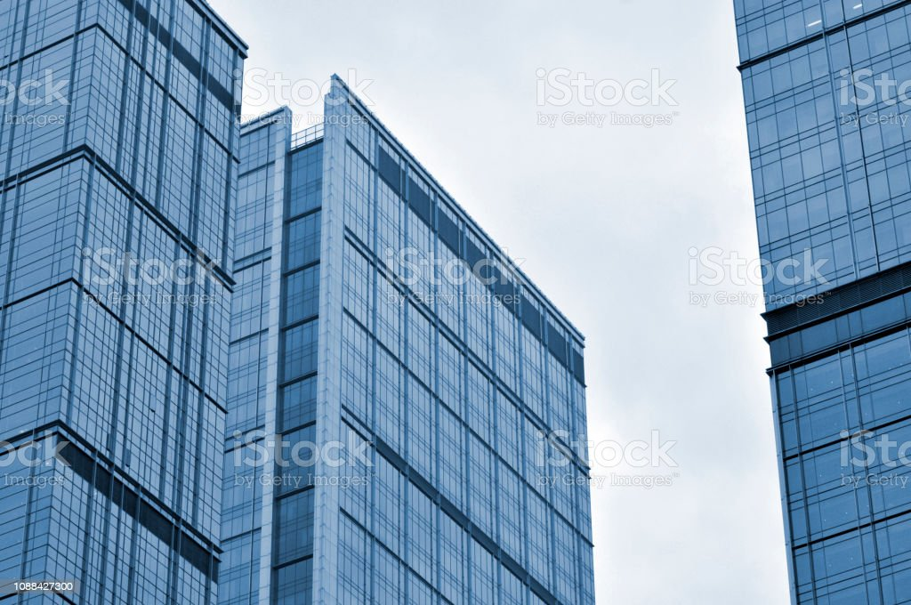 The Glass Curtain Wall Of The Building Stock Photo Download Image Now Istock