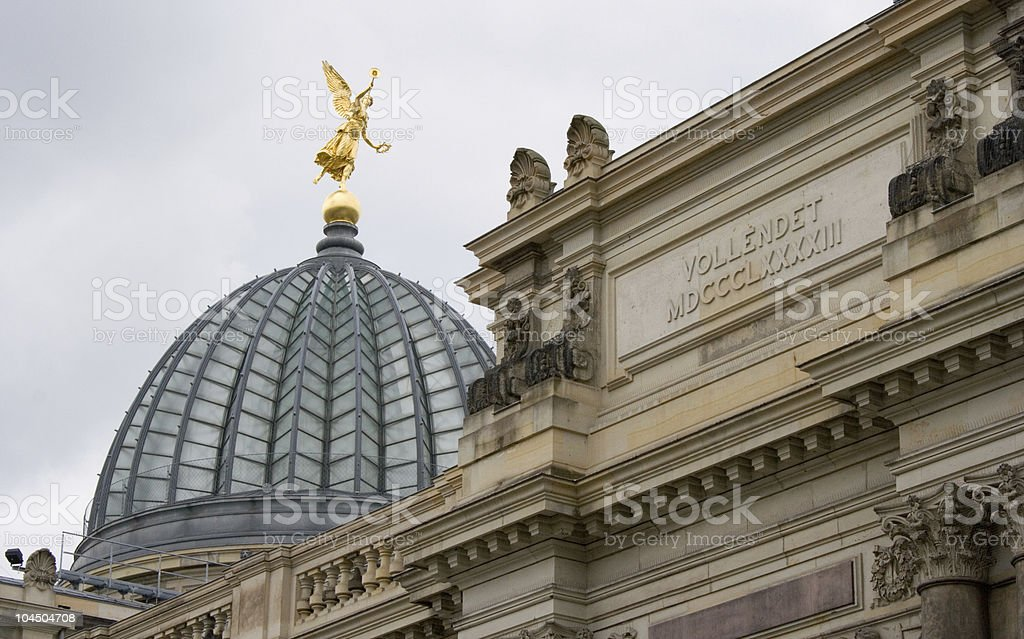 The glass dome  Dresden Academy of Fine Arts stock photo
