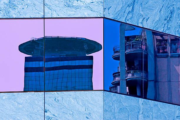 The glass skyscraper stock photo