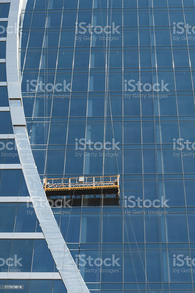 The glass wall of office building royalty-free stock photo