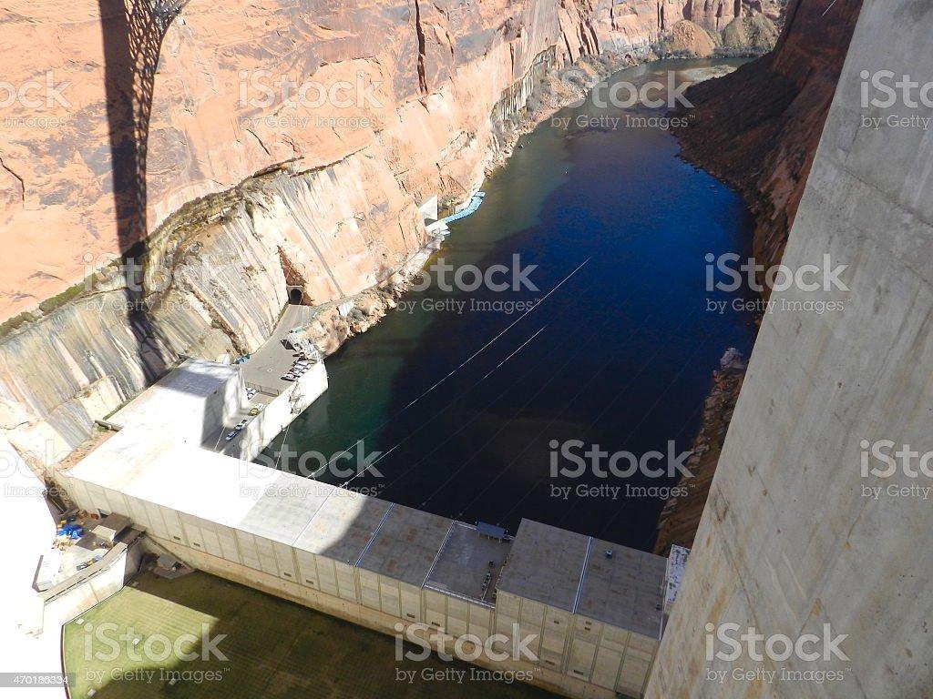 The Glen Canyon Dam Power Plant stock photo