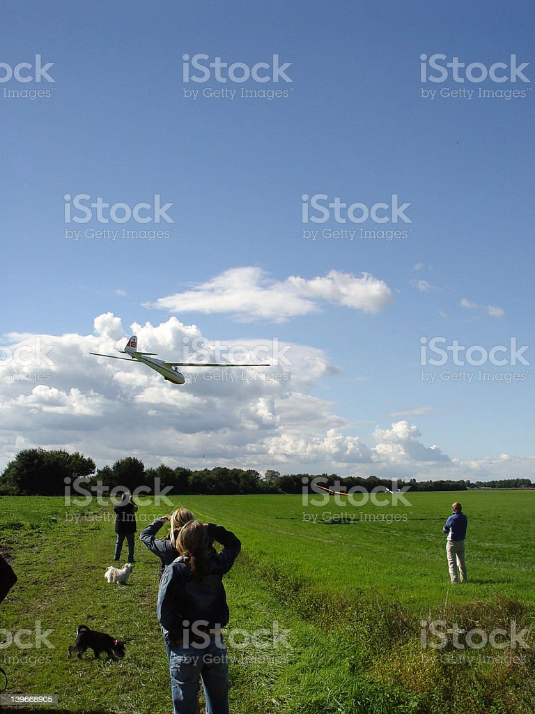 The glider is landing royalty-free stock photo