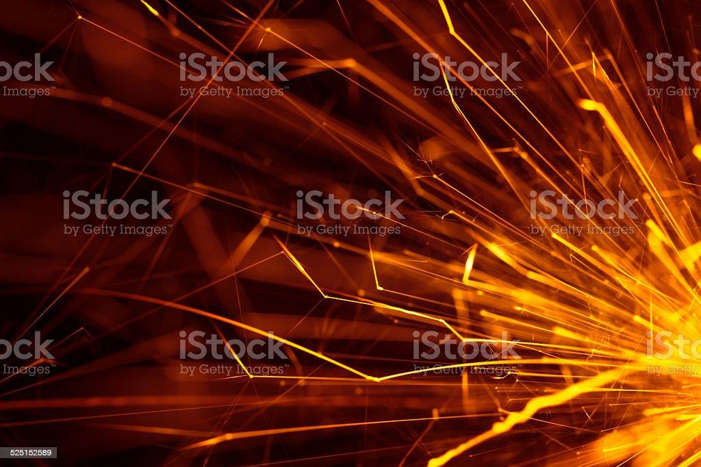 The glitter of sparkler flare stock photo
