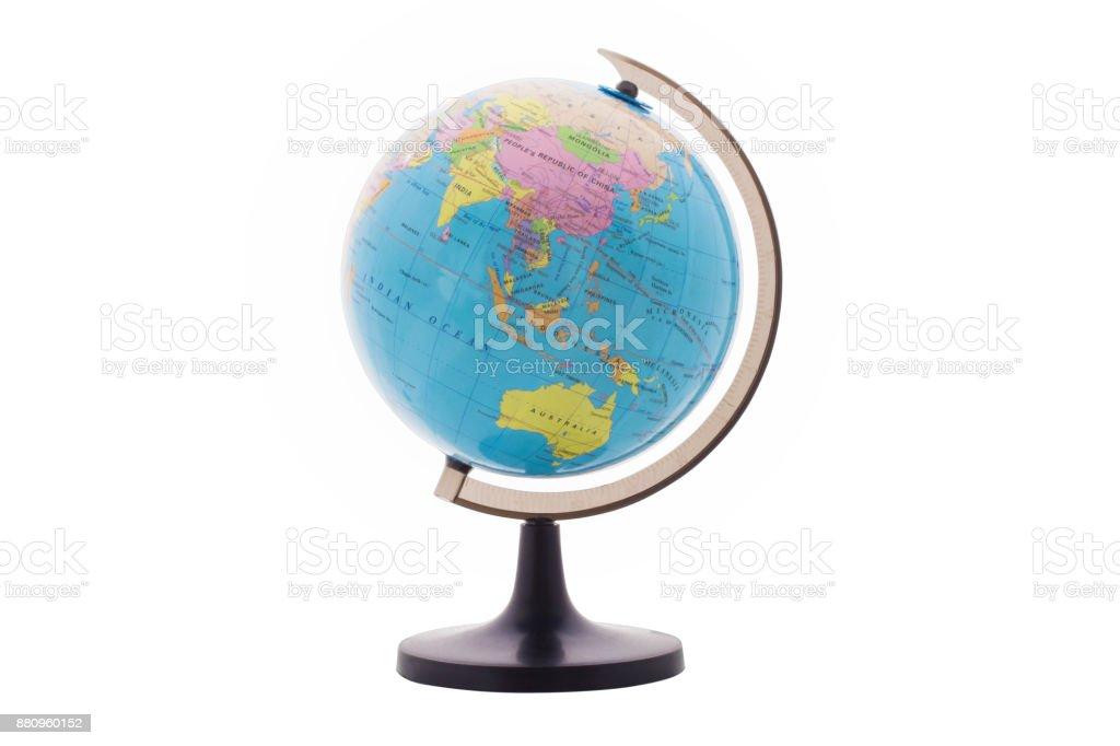 The Globe isolated white background, stock photo