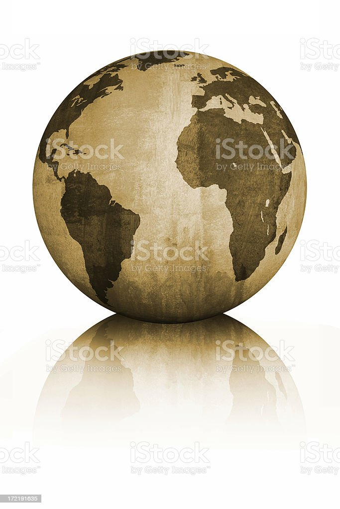 The globe royalty-free stock photo