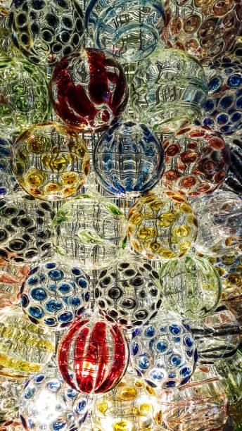Die glänzende Farbe der Kristallkugel – Foto