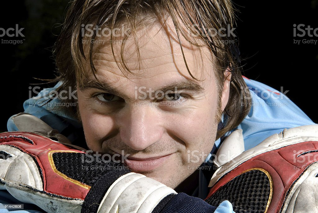 The goalkeeper royalty-free stock photo