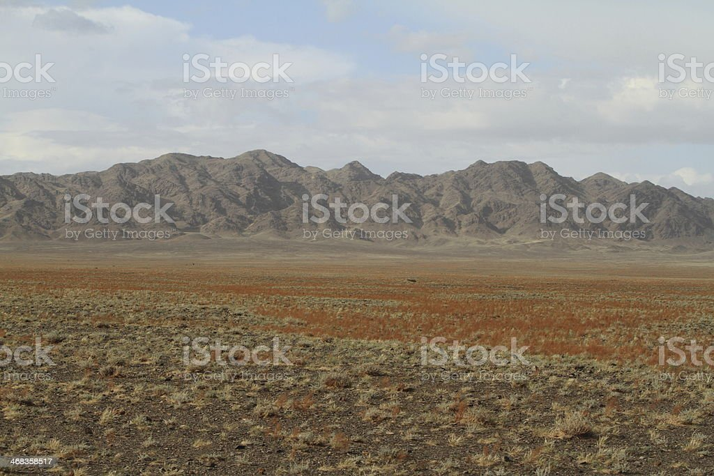 Die Wüste Gobi in der Mongolei royalty-free stock photo