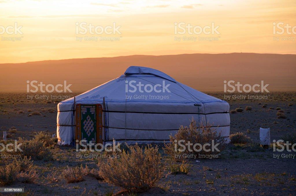 The Gobi desert, southern Mongolia stock photo
