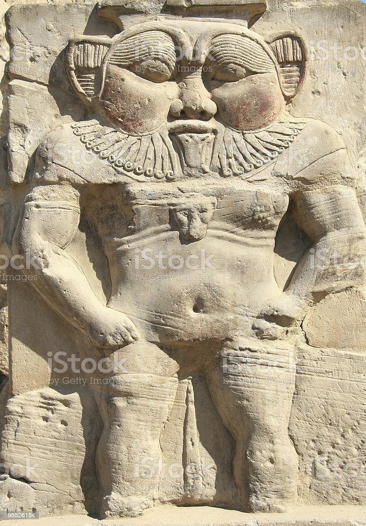 The God Bes, Temple of Hathor, Dendera, Egypt stock photo