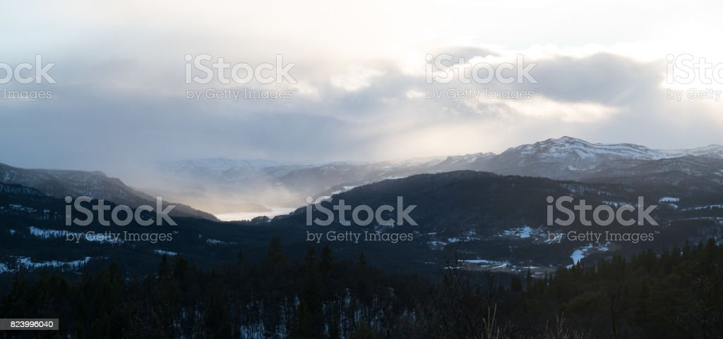 The Gol Mountain Area in Norway stock photo