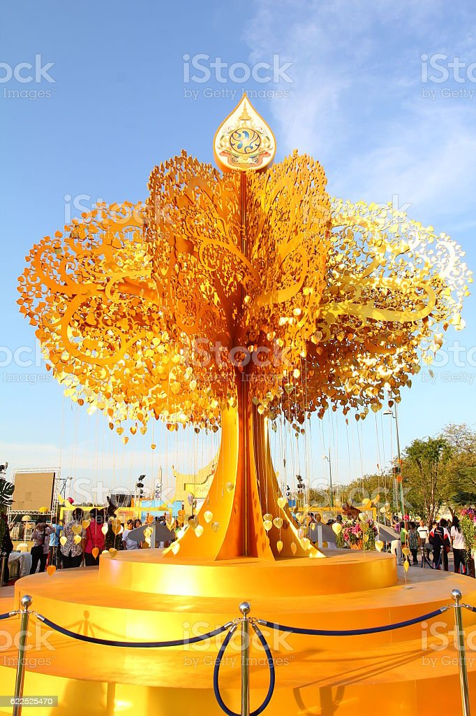 The Gold Pho Decoration for His Majesty the King, stock photo