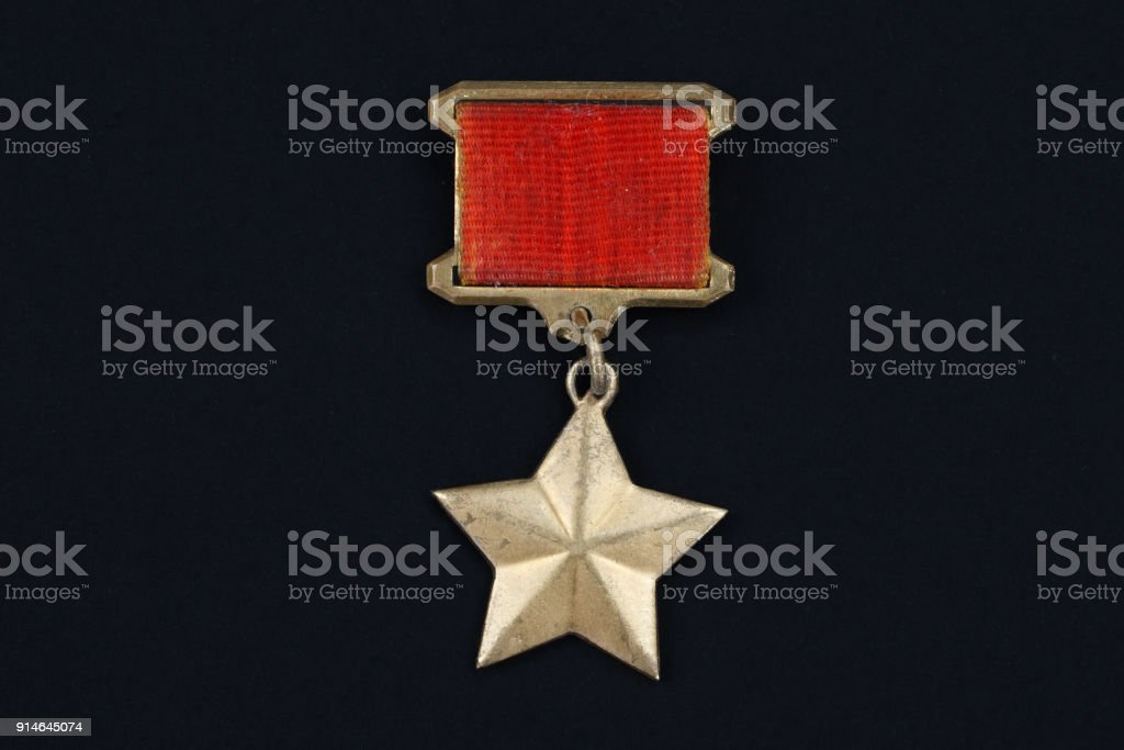 The Gold Star medal is a special insignia that identifies recipients of the title