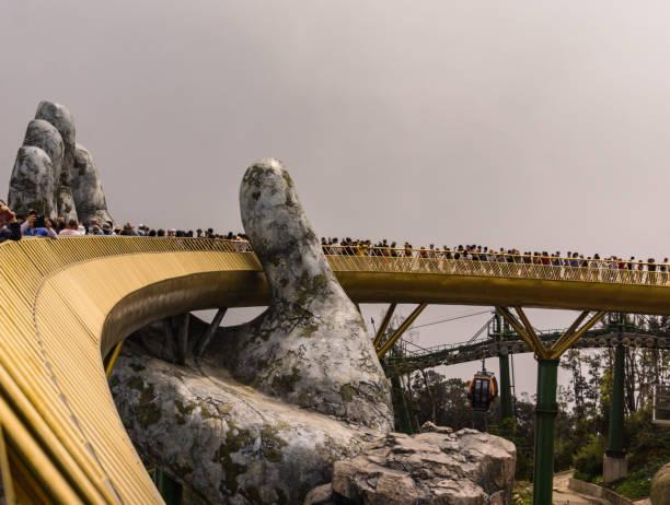 The Golden Bridge stock photo