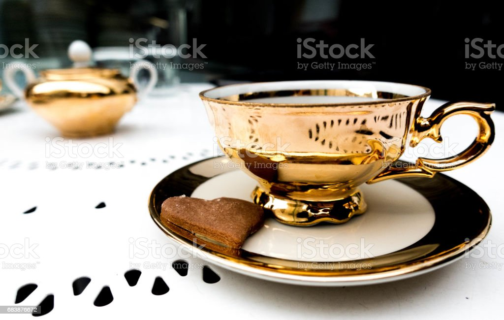 the golden cup stock photo